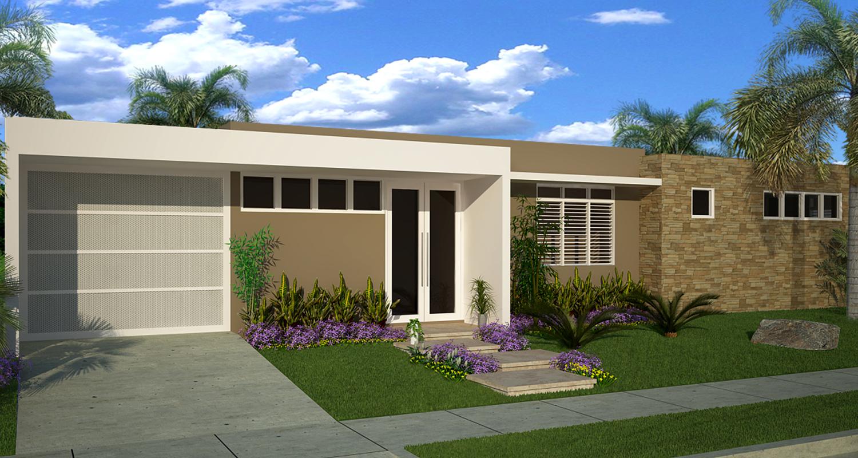 Modelo acacia ii casa bellacasa bella for Fachadas de casas modernas puerto rico